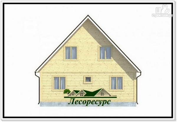 Фото 4: проект каркасный дом 7.5 на 8 с террасой