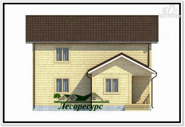 Фото 2: проект двухэтажный каркасный дом 8.5 на 9