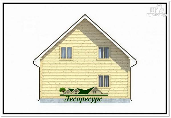 Фото 4: проект каркасный дом 8 на 8 с балконом