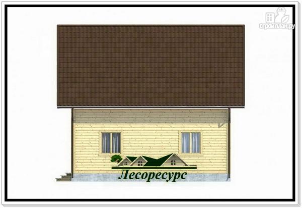 Фото 5: проект каркасный дом 8 на 8 с балконом