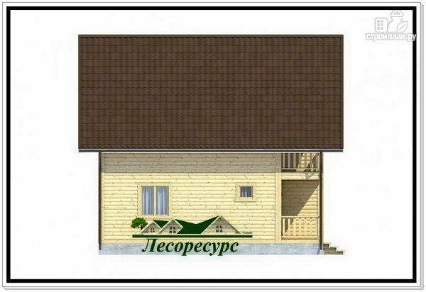 Фото 3: проект каркасный дом 8 на 8 с балконом