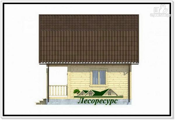 Фото 5: проект каркасный дом 6 на 6 с балконом