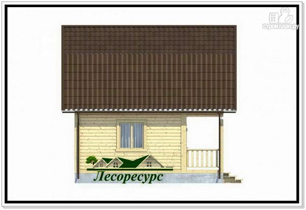 Фото 3: проект каркасный дом 6 на 6 с балконом
