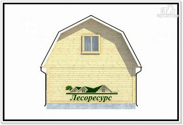 Фото 4: проект каркасный дом 6 на 6 с верандой