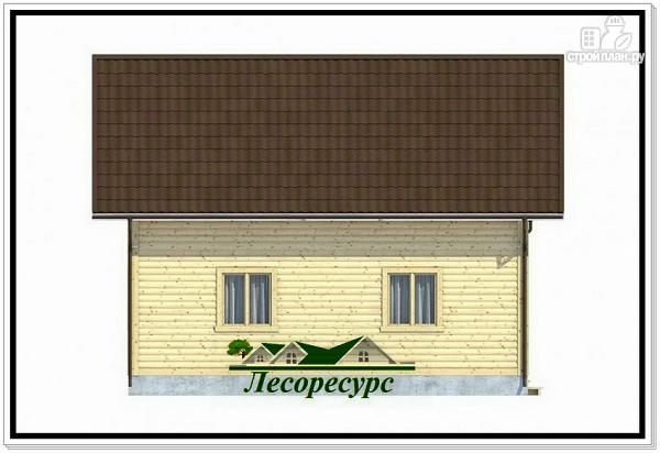 Фото 3: проект полтора этажный каркасный дом 8 на 8