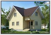 Проект полтора этажный каркасный дом 8 на 8