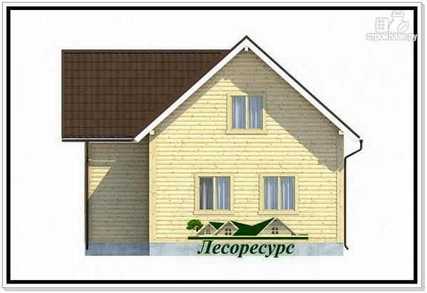 Фото 4: проект полтора этажный каркасный дом 8 на 8
