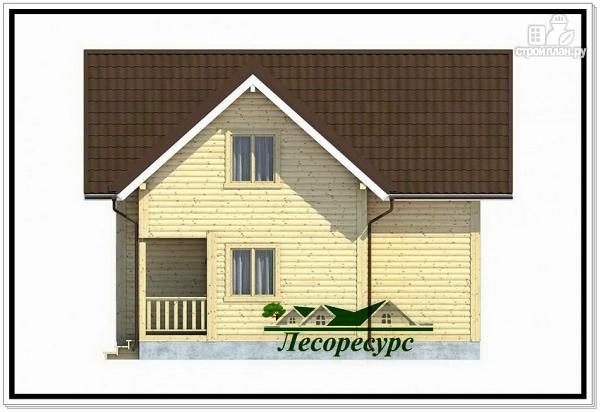 Фото 5: проект полтора этажный каркасный дом 8 на 8