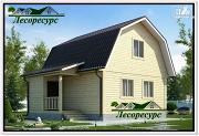 Проект каркасный дом 6 на 7.5 с мансардой