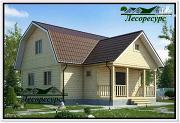 Проект каркасный дом 9 на 9 с террасой