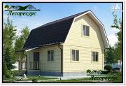 Проект двухэтажный каркасный дом 6 на 6