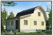 Проект каркасный дом 6 на 9 с верандой