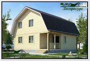 Проект двухэтажный каркасный дом 7.5 на 8