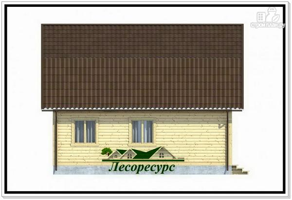 Фото 3: проект двухэтажный каркасный дом 7.5 на 8