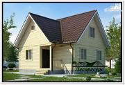 Фото: каркасный дом 7.5 на 8 с мансардой