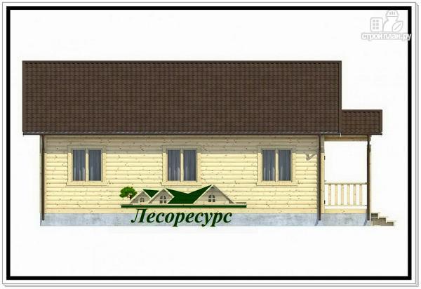 Фото 3: проект одноэтажный каркасный дом с эркером