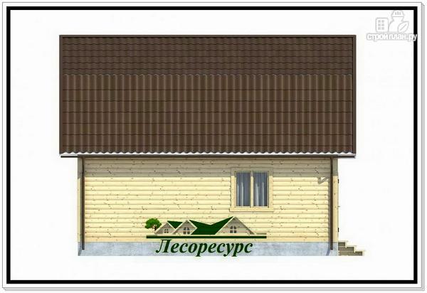 Фото 3: проект каркасный дом 7.5 на 8 с ломаной крышей