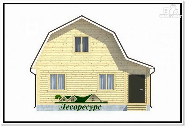 Фото 2: проект каркасный дом 7.5 на 8 с ломаной крышей