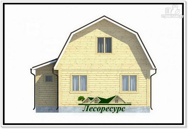 Фото 4: проект каркасный дом 7.5 на 8 с ломаной крышей