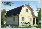 Проект каркасный дом 7.5 на 8 с ломаной крышей