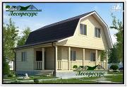 Проект каркасный дом 7.5 на 7.5