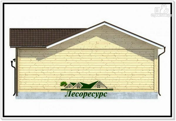 Фото 5: проект одноэтажный каркасный дом с террасой