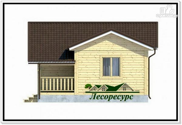 Фото 4: проект одноэтажный каркасный дом с террасой