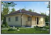 Проект одноэтажный каркасный дом 8 на 8