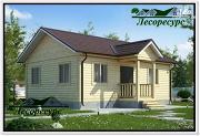 Проект одноэтажный каркасный дом 6 на 8
