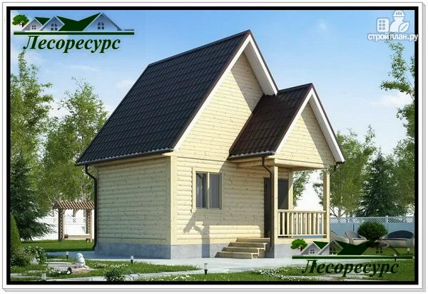 Фото: проект каркасный дом 4 на 5 с крыльцом
