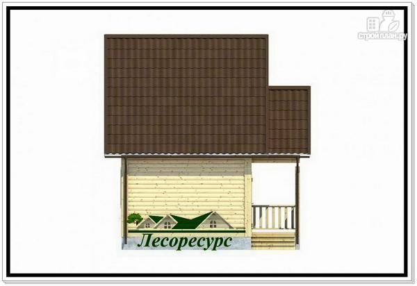 Фото 3: проект каркасный дом 4 на 5 с крыльцом