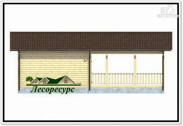 Фото 4: проект каркасный домик с террасой