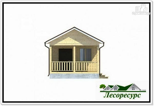 Фото 3: проект каркасный домик с террасой