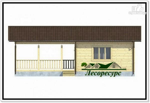 Фото 2: проект каркасный домик с террасой