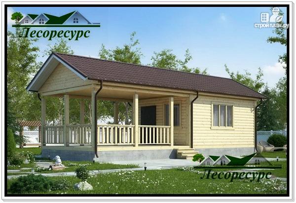 Фото: проект каркасный домик с террасой