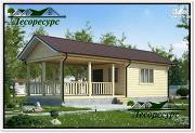 Проект каркасный домик с террасой