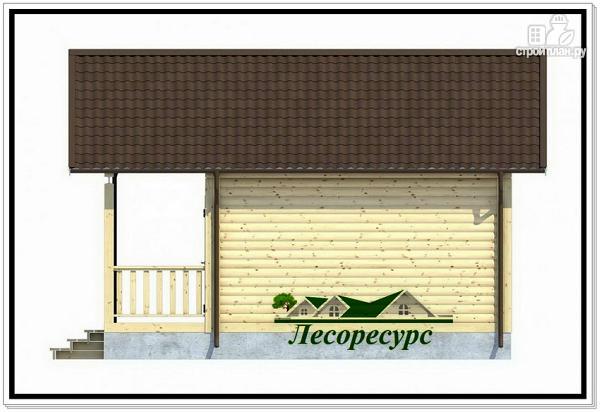 Фото 6: проект одноэтажный каркасный дом 6 на 6
