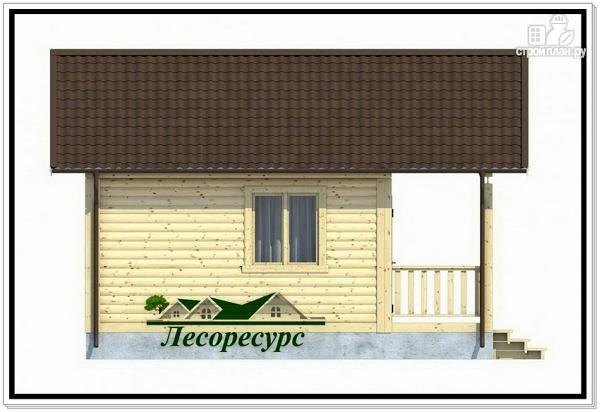 Фото 4: проект одноэтажный каркасный дом 6 на 6