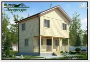 Проект квадратный каркасный дом