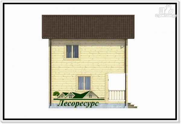 Фото 3: проект квадратный каркасный дом