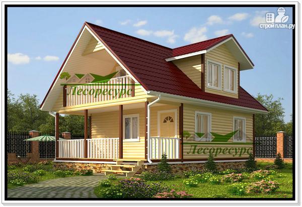 Фото: проект дом 6 на 8 с балконом