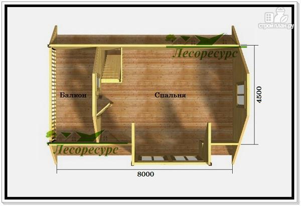 Фото 3: проект дом 6 на 8 с балконом