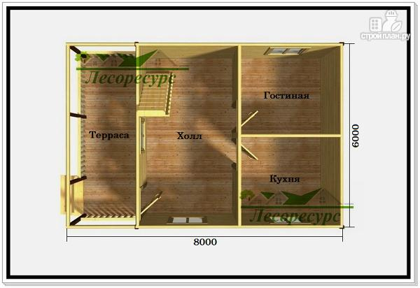 Фото 2: проект дом 6 на 8 с балконом