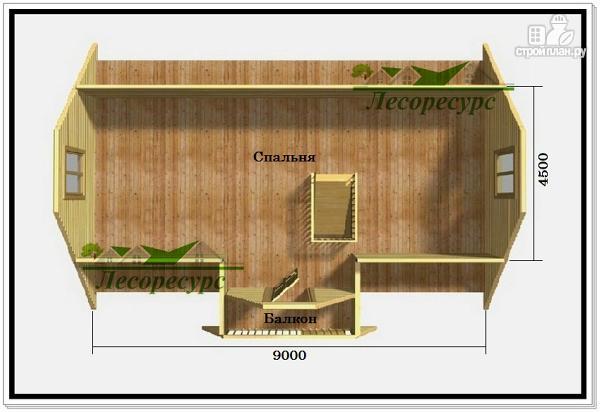 Фото 3: проект дом 7 на 9 из бруса с мансардой
