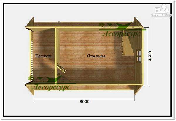 Фото 3: проект дом 6 на 8 с ломаной крышей