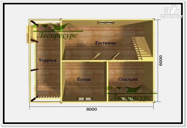Фото 2: проект дом 6 на 8 с ломаной крышей