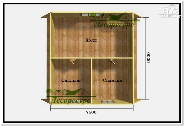 Фото 3: проект дом 9 на 9 с ломаной крышей