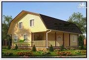 Фото: дом 9 на 9 с ломаной крышей