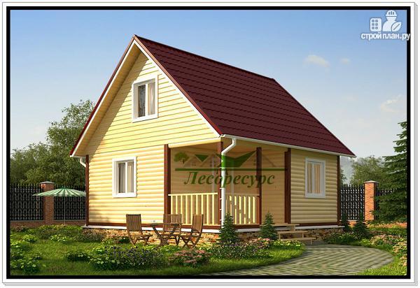 Фото: проект дом 6 на 6 с двускатной крышей