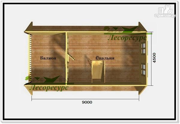 Фото 3: проект дом 6 на 9 с ломаной крышей